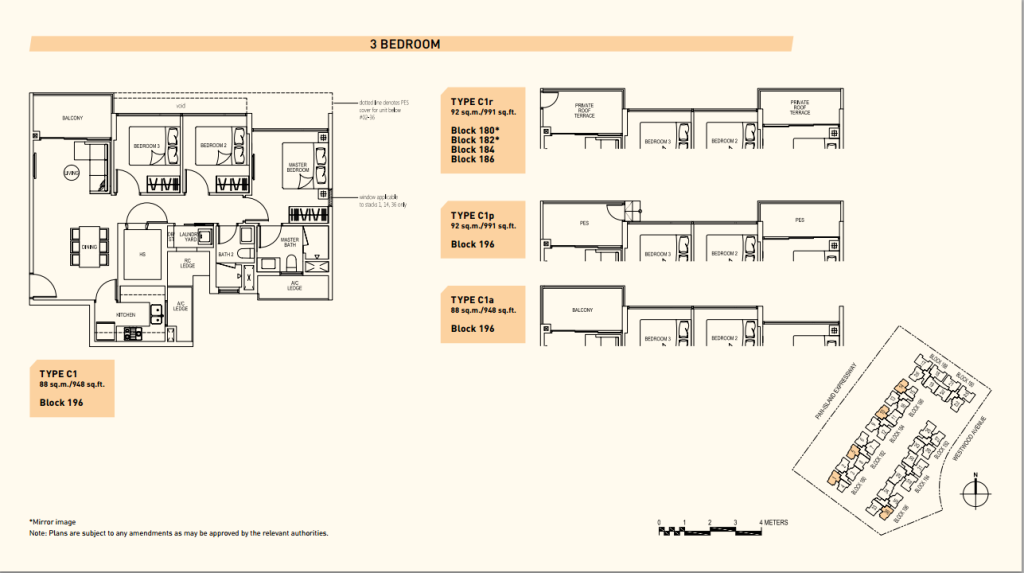 westwood residences floor plans c1 new property launch singapore