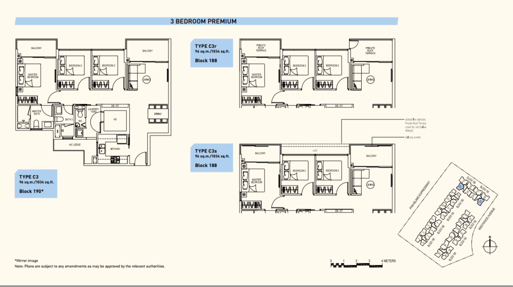 Westwood Residences floor plans c3 new launch condo singapore