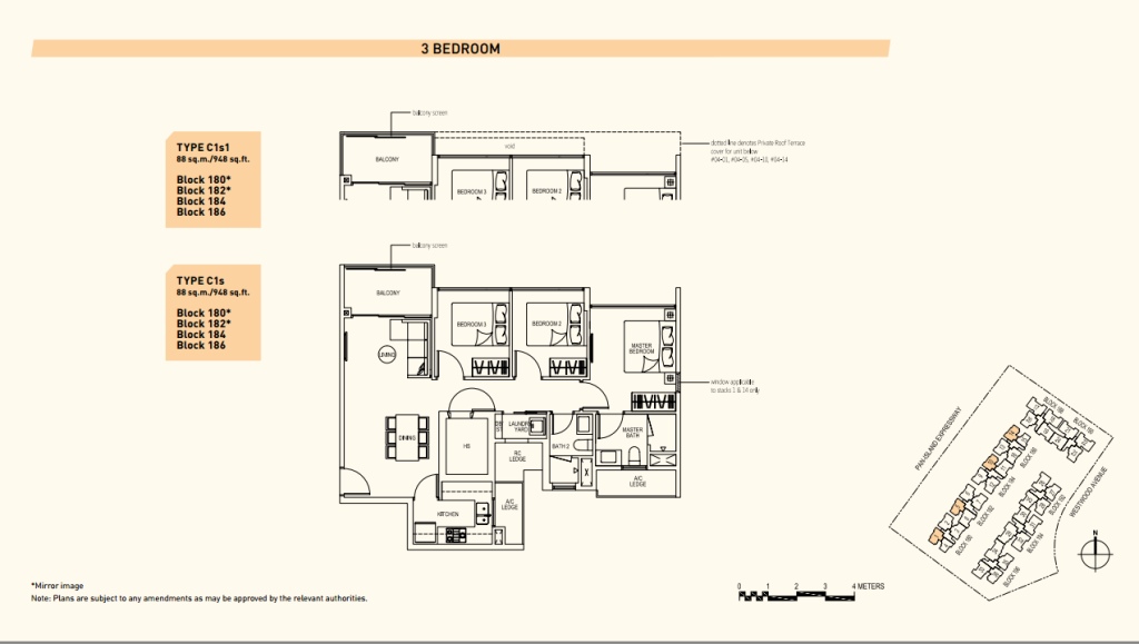 Westwood Residences Floor Plans c1s1 singapore property new launch