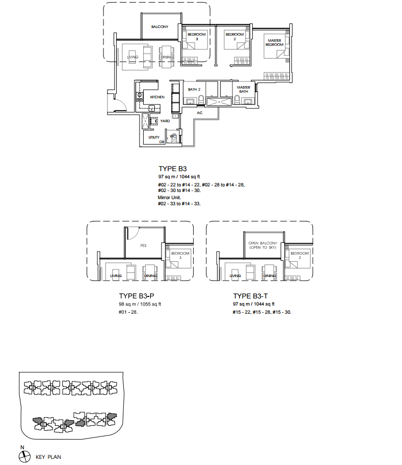 Vales floor plan B3 new ec launch