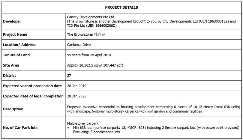 brownstone ec project details new launch property