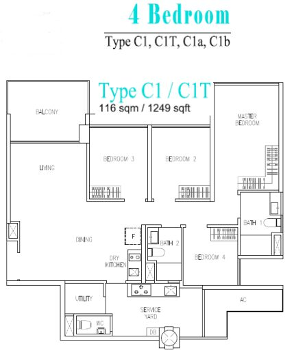 wandervale ec 4 room floor plan