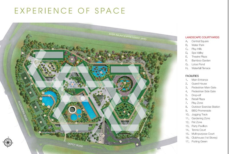 The Interlace site plan