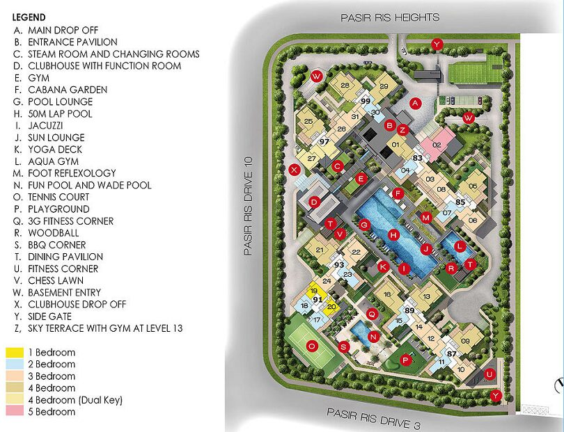 vue 8 residence site plan